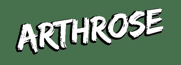 Schriftzug: Arthrose
